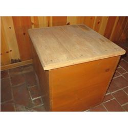 WOODEN STORAGE CONTAINER FROM A GENERAL STORE
