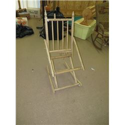 ANTIQUE EAST LAKE STYLE ROCKER, NO SEAT