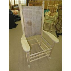 ANTIQUE REED BACKED ROCKER, NO SEAT