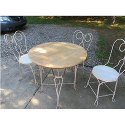 6 PC ICE CREAM PARLOR TABLE & CHAIR PATIO SET