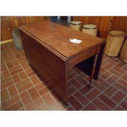 ANTIQUE WOODEN GATE LEG TABLE