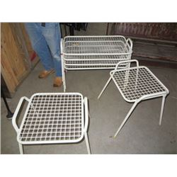 WHITE LAWN SIDE TABLES