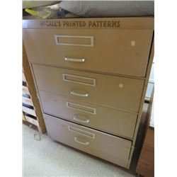 MCCALL'S PATTERN 4 DRAWER CABINET