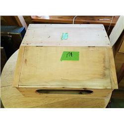 BUNDLE LOT: UNFINISHED WOOD BOXES, SLANT FRONT (2)