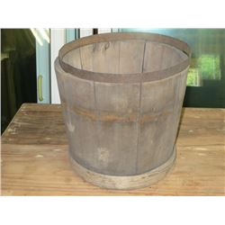 UNFINISHED WOODEN BUCKET