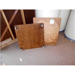 WOODEN RAMP/WEDGE AND DOLLY