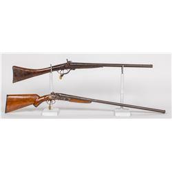 American Gun Co. SxS Hammer Shotgun, Double-Barrel 1890s JMD-11746