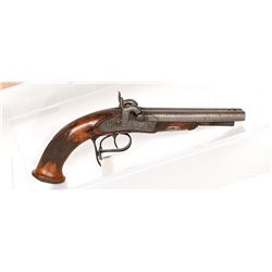 Kimmel Pistol, Double-Barrel 1840s JMD-11410
