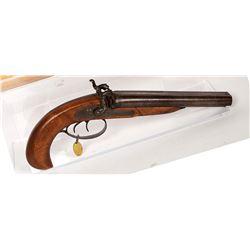 Unknown mfr. Pistol, Double-Barrel 1850s JMD-11176