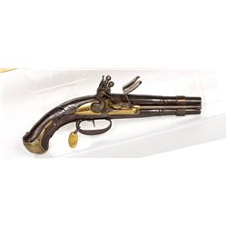 Unknown mfr. possibly Scottish Pistol, Double-Barrel 1790s JMD-11256