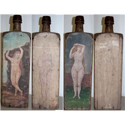 Gin Wood Bottle Model, Art, 19thc JMD-15109