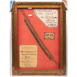 Framed Cartridge Belt with Bullets, Spencer Rimfire JMD-10015