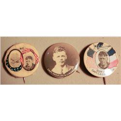 Chas Lindbergh Buttons (3) JMD-15208