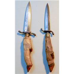 Deer Hoof Knives (2) JMD-15050