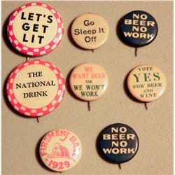 End Prohibition Buttons (8) JMD-15192