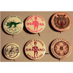 Music Buttons (6) JMD-15196