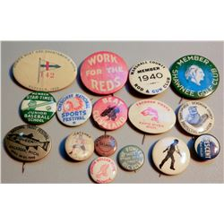 Sports Related Buttons (16) JMD-15239