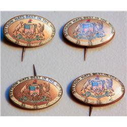 Stetson Hat Buttons (4) JMD-15233