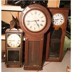 Three Wall Mounted Clocks JMD-10030