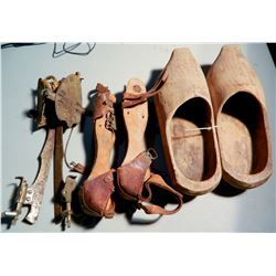 Wood Shoes and Old Ice Skates JMD-15262