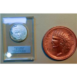 JM Davis Expo Cent and Silver Medal JMD-15030