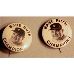 Babe Ruth Champions Buttons (2)   JMD-15091