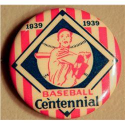 Baseball Centennial Button JMD-15092