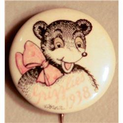 Montana Grizzlies Button JMD-15096