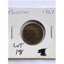 1927 Palestine Coin Nice