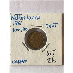 1961 Netherlands Cent