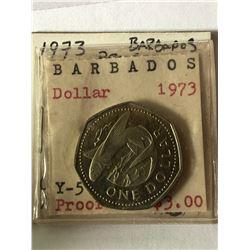 1973 BARBADOS PROOF Dollar
