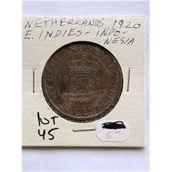 Rare 1920 Netherlands East Indies nesia Coin