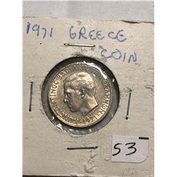 1971 Greece 1 Coin in MS High Grade