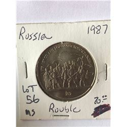1987 Russia Rouble MS High Grade