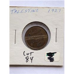 1927 Palestine Coin Nice Early Uncommon