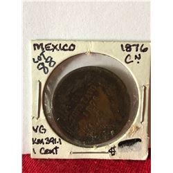 1876 Mexico 1 Cent