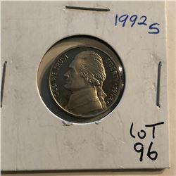 Beautiful 1992 S PROOF Jefferson Nickel