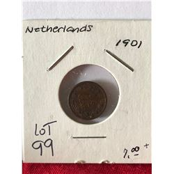 1901 Netherlands Coin