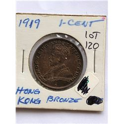 1919 Hong Kong 1 Cent Coin