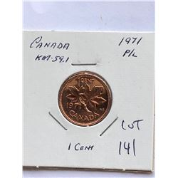 1971 Canada 1 Cent PROOF LIKE High Grade Coin