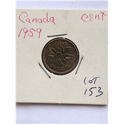 1959 Canada 1 Cent Nice Coin