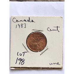 1983 Canada 1 Cent MS High Grade
