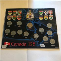 Great Canada 125 Territory and Providence Coin Set