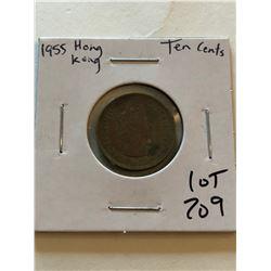 1955 HONG KONG 10 Cents Coin