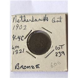 1902 Netherlands Cent