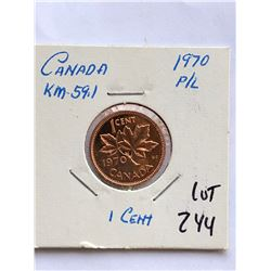 1970 Canada 1 Cent in PROOF LIKE High Grade