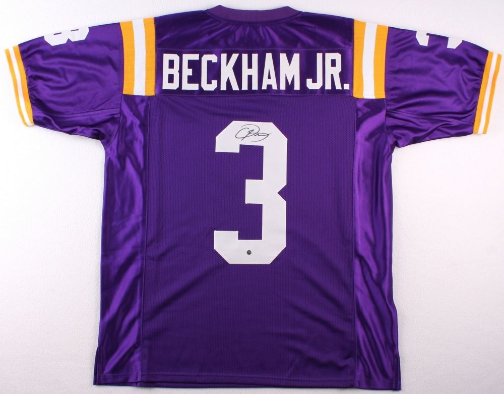 first rate 48625 46a21 Odell Beckham Jr. Signed LSU Jersey (Steiner COA)