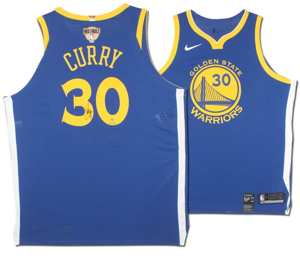 good a09c8 612e0 Stephen Curry Signed LE Golden State Warriors Nike Jersey ...