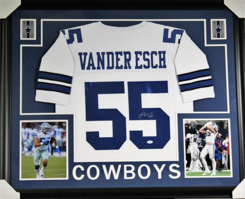 pretty nice db415 68e6e Leighton Vander Esch Signed Dallas Cowboys 35x43 Custom ...