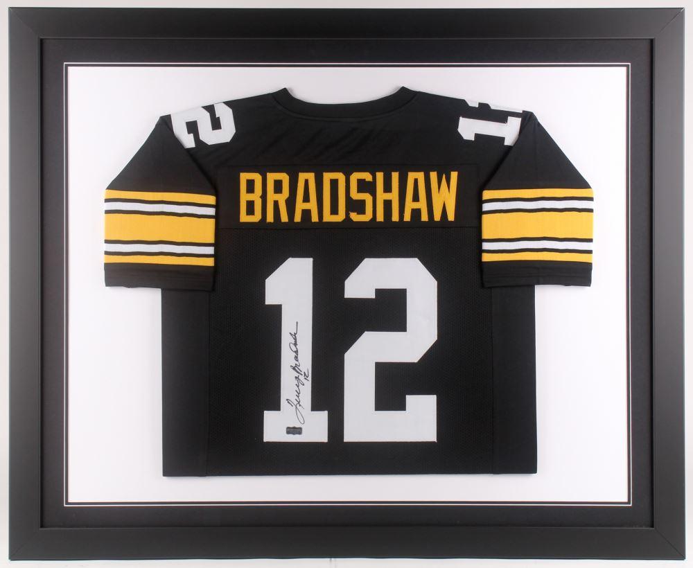 hot sale online 34dec 3445e Terry Bradshaw Signed Pittsburgh Steelers 35x43 Custom ...